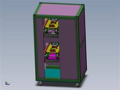 非标输送带带升降机-双层非标流水线循环载具