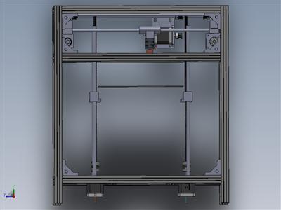 基于铝框的3D打印机设计(核心xy型结构)