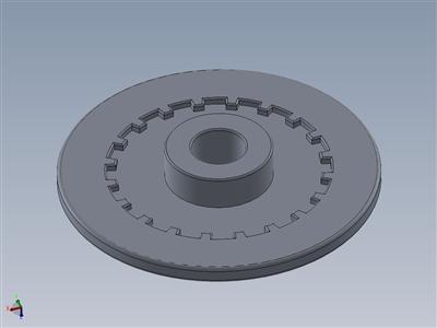 带不带齿的DIY 3D打印机用20T GT2铝定时驱动轮