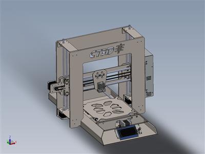 3D打印机-CT3D-工作进行中-所有激光切割