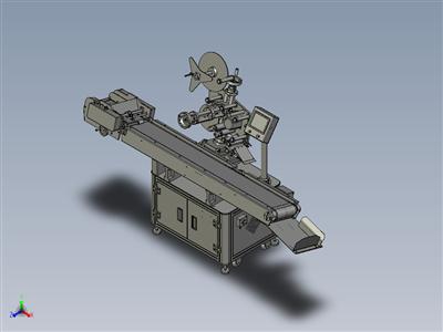 非标自动化设备,卡片贴标机3D图纸