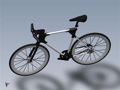 XT-CF20自行车3D打印自行车