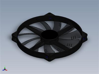 Aerocool静音主机200毫米机箱风扇