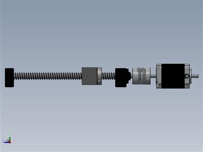 简单CNC轴组件(可调整大小)
