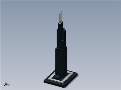 乐高建筑套装21000威利斯(西尔斯)大厦