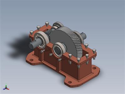 一级斜齿轮减速器设计