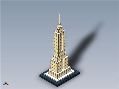 乐高建筑套装21002帝国大厦