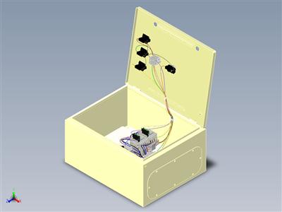 带电缆和组件的电气柜