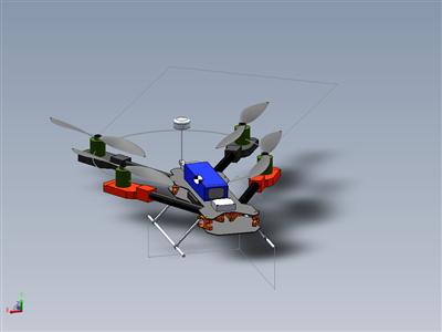 碳折叠四轴飞机