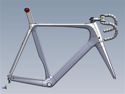碳路自行车车架