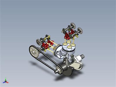 摩托车发动机内部设置-超级四轮发动机-最终组装