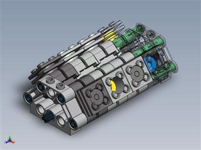 乐高套装 #5272 气缸 + 额外功能