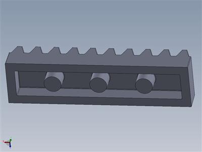 乐高3743齿轮架1X4的4x注塑模具