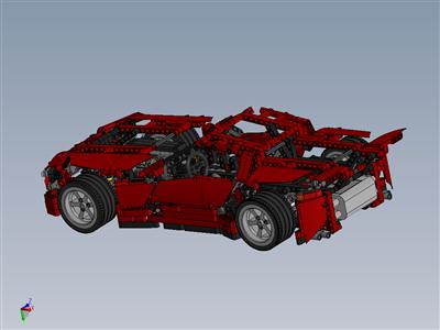 8070乐高技术超级跑车