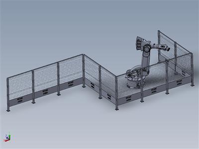 6DOF vika-350 具有实际工作机制的工业机器人