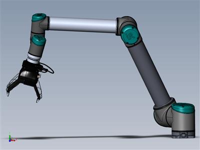 UR10 机器人机器人3指抓手