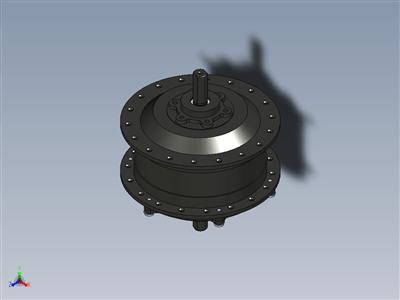用于前自行车轮(微型电机)的金电机 250W 齿轮轮毂电机