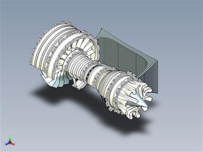 3D 可打印的高旁路喷气发动机