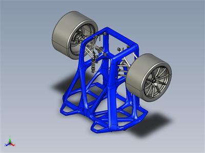 保时捷918有机底盘框架概念-3D 打印