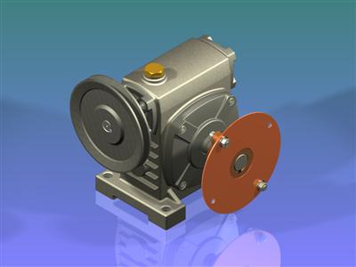 带动画的紧凑型蠕虫齿轮减速器