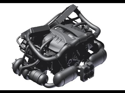 保时捷6 GT2双涡轮增压的概念发动机