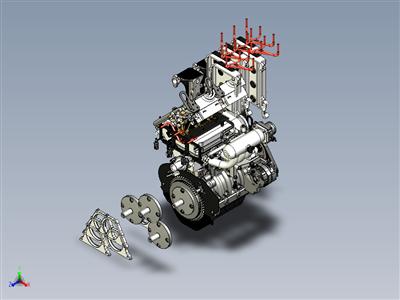 奇瑞 SCR372 DOHC 发动机 (John Deere Gator 825i)