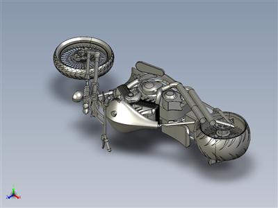 带 springer 前端的切割机摩托车