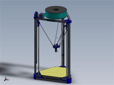 科塞尔三角洲配置3D 打印机