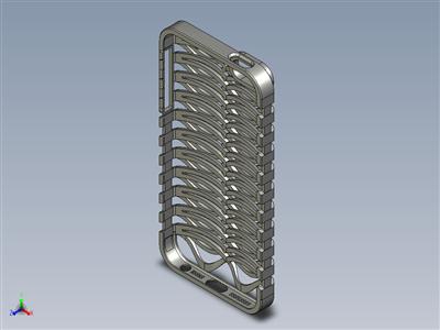 3d打印(或铸造金属)iPhone5手机套(胸腔套)