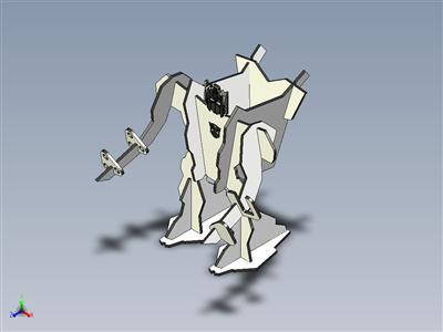 激光切割机器人木制玩具