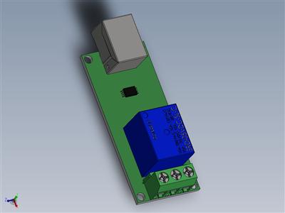USB控制1通道模块5V继电器模块
