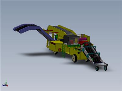 复杂的收割机3D模型 Solidworks设计