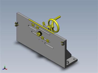 同步宽度传感器换装组件