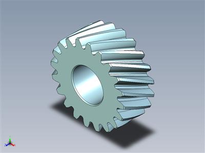0.05mm铅顶斜齿轮