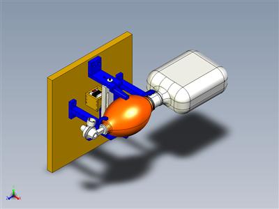 COVID-19呼吸机控制夹持器