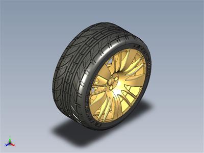 汽车合金车轮和轮胎总成