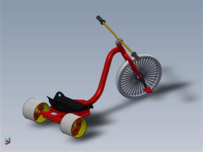 自踏板漂移三轮车