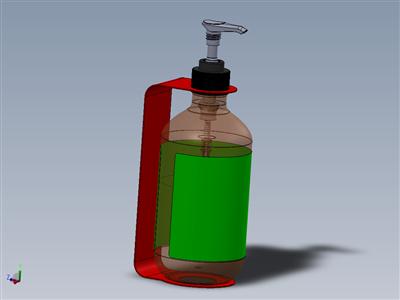 带支架的皂液分配器